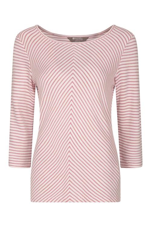 Mountain Warehouse Wms Melrose 3//4 Sleeve Stripe Knit Top Knitwear
