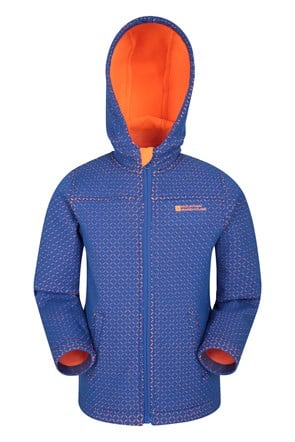 Laser Cut Kinder-Softshell-Jacke