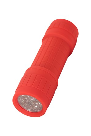 Mini Linterna de Caucho 9 LED