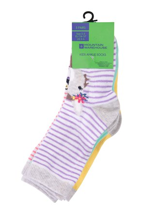 Striped Kids Ankle Socks - 5 Pack