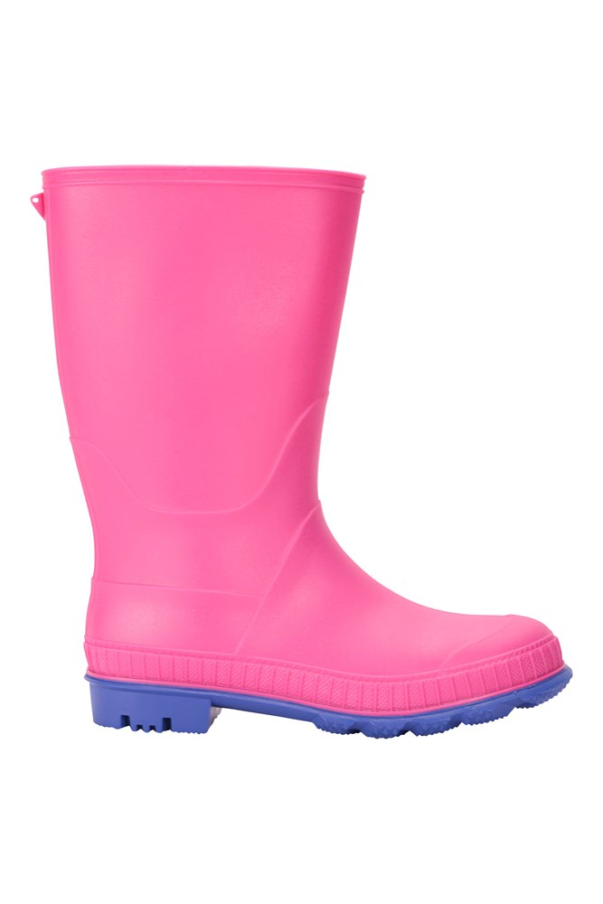 Mountain Warehouse Sunny Rubber Kids Wellies Easy Clean Rain Boots