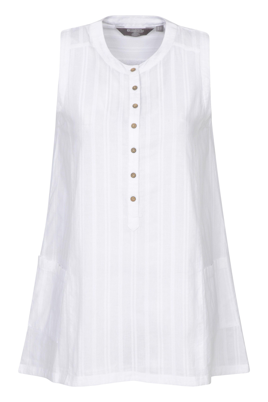 Chemise sans manches Femmes San Diego - Blanc
