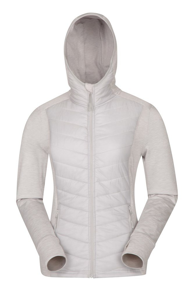 Action Packed Womens Padded Jacket - Grey