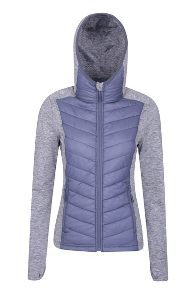 Action Packed Womens Padded Jacket - Purple