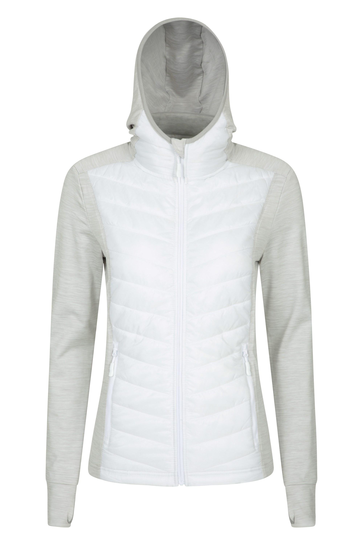 Action - pikowana kurtka damska - White