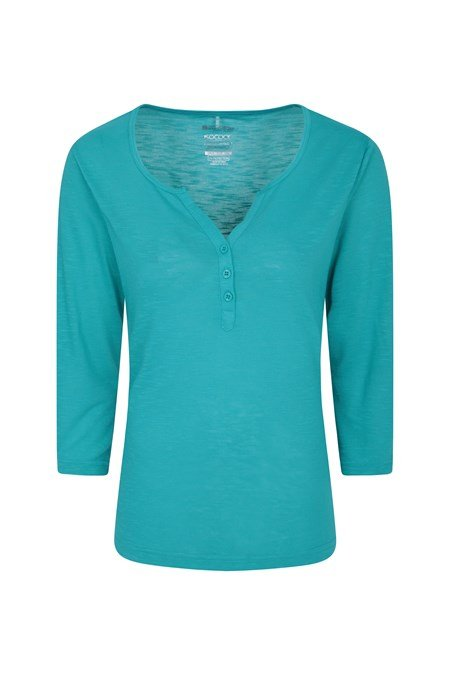 030262 PAPHOS 3/4 LENGTH SLEEVE BUTTON TOP
