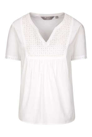 Paris Embroidered Womens Top