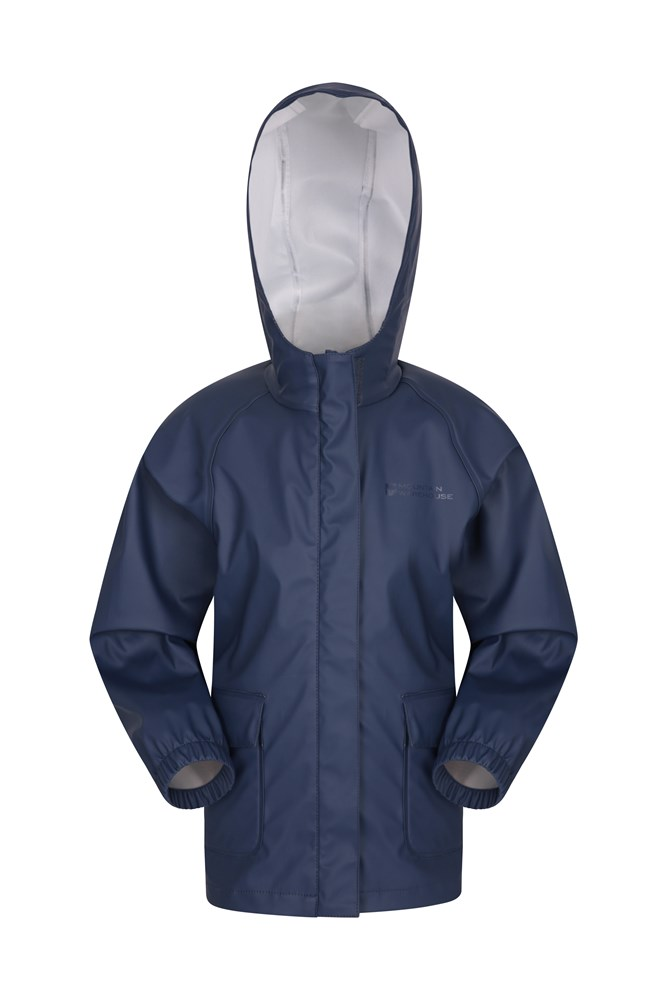 Rain On Kids Waterproof Jacket - Navy
