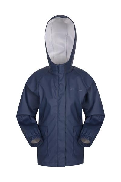 Rain On Kids Waterproof Jacket - Navy