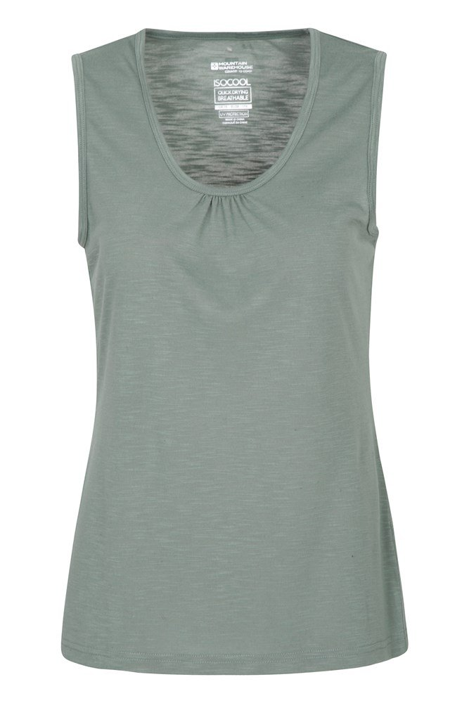 Mountain Warehouse Wms  San Diego Printed Sleeveless Relaxed Womens Shirt In