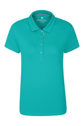 Womens Pique Stretch Polo