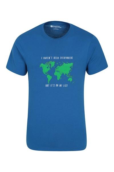 Grid Map II Mens T-Shirt - Blue