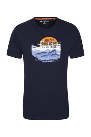 Log Off Shut Down Mens Tee