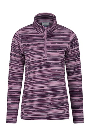 Idris Stripe Half Zip Womens Fleece
