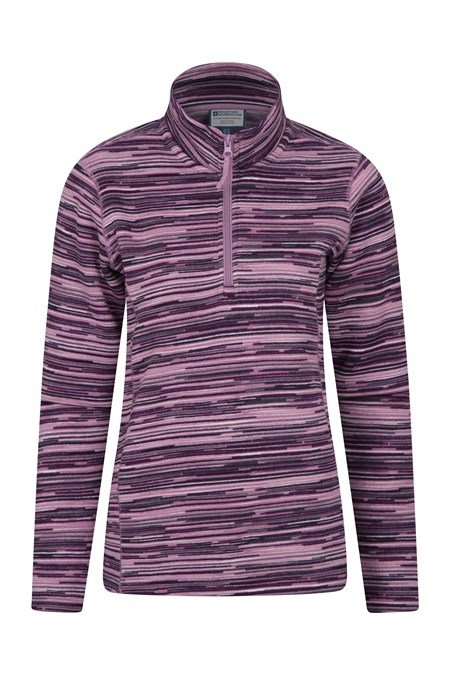 030301 IDRIS STRIPE HALF ZIP WOMENS FLEECE