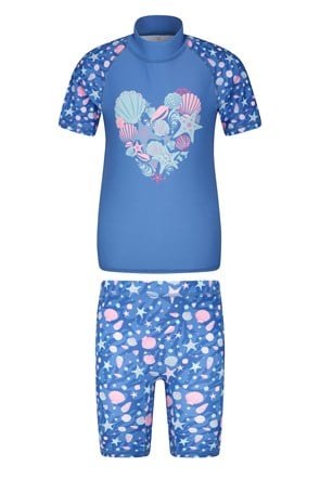 Printed Kids Rash Vest and Shorts