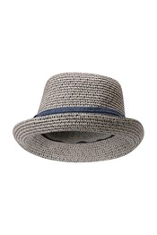 Womens Straw Trilby Hat