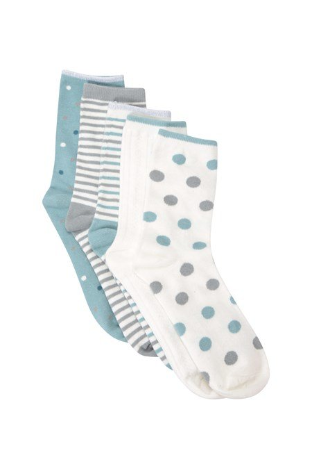 030319 WOMENS PATTERNED EVERYDAY SOCK 5PK