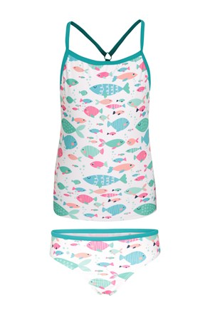 Printed Kids Tankini with Matching Bottoms