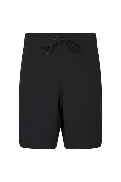 Womens Stretch Boardshorts - Long - Black