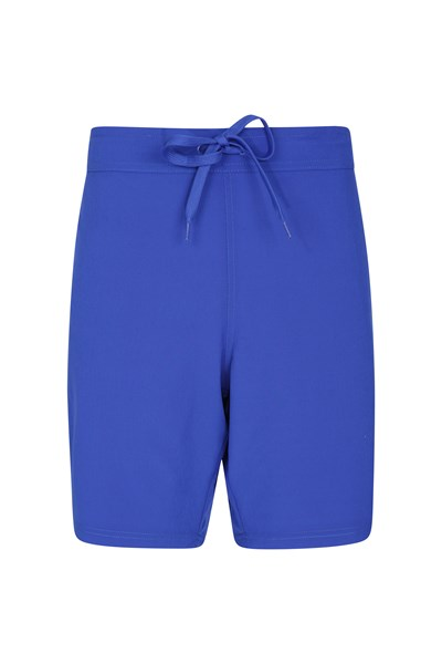 Womens Stretch Boardshorts - Long - Blue