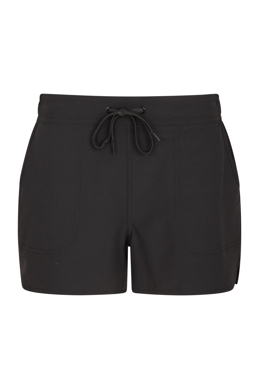 Damen Stretch-Board-Shorts - Schwarz