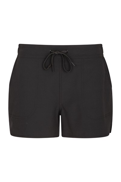 Womens Stretch Board Shorts - Black