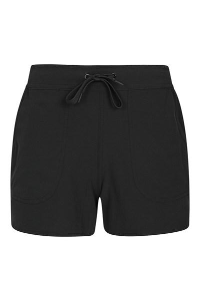 Womens Stretch Board Shorts - Black