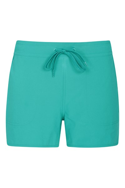 Womens Stretch Board Shorts - Teal