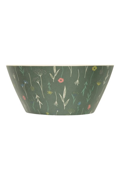 Bamboo Bowl - Patterned - Green