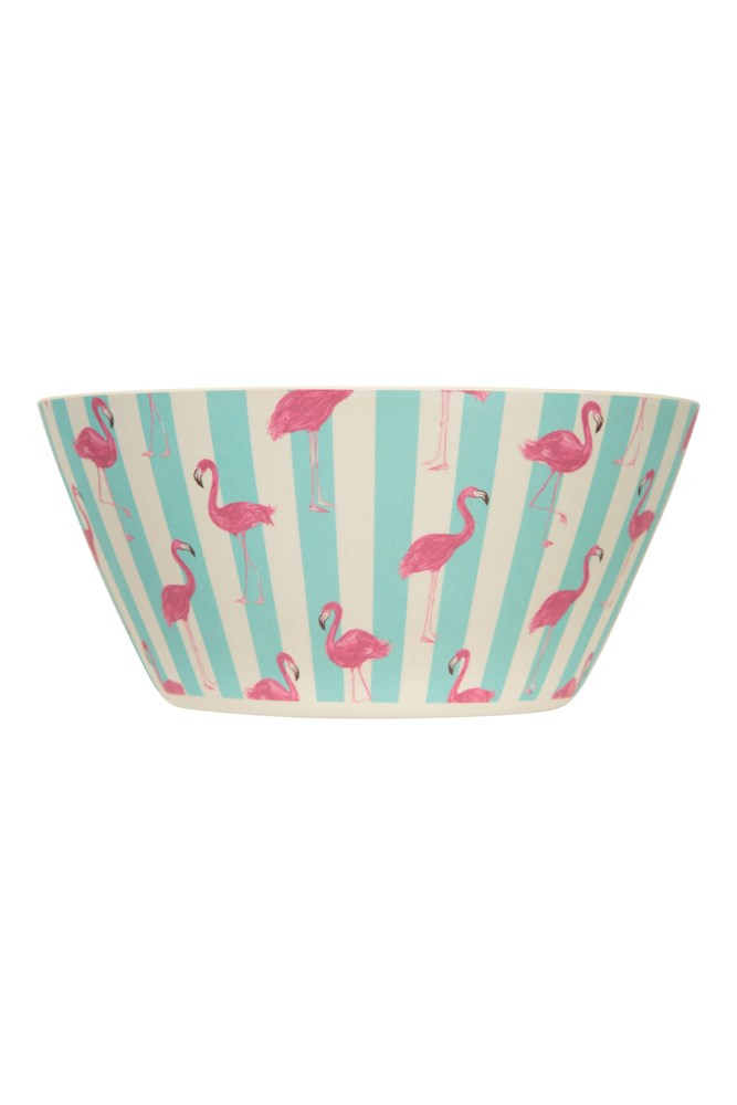Bamboo Bowl - Patterned - Teal