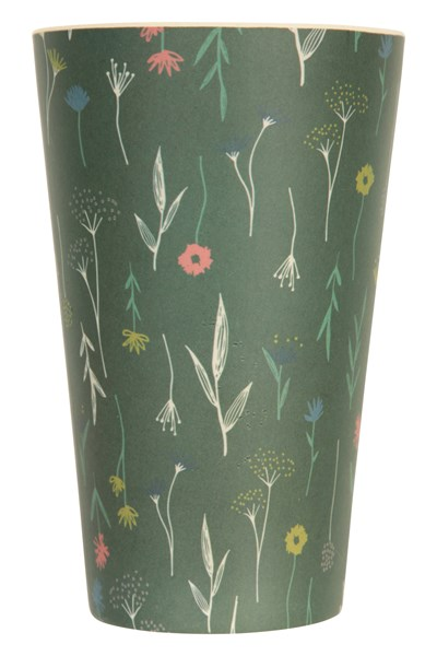 Bamboo Cup - Patterned - Green