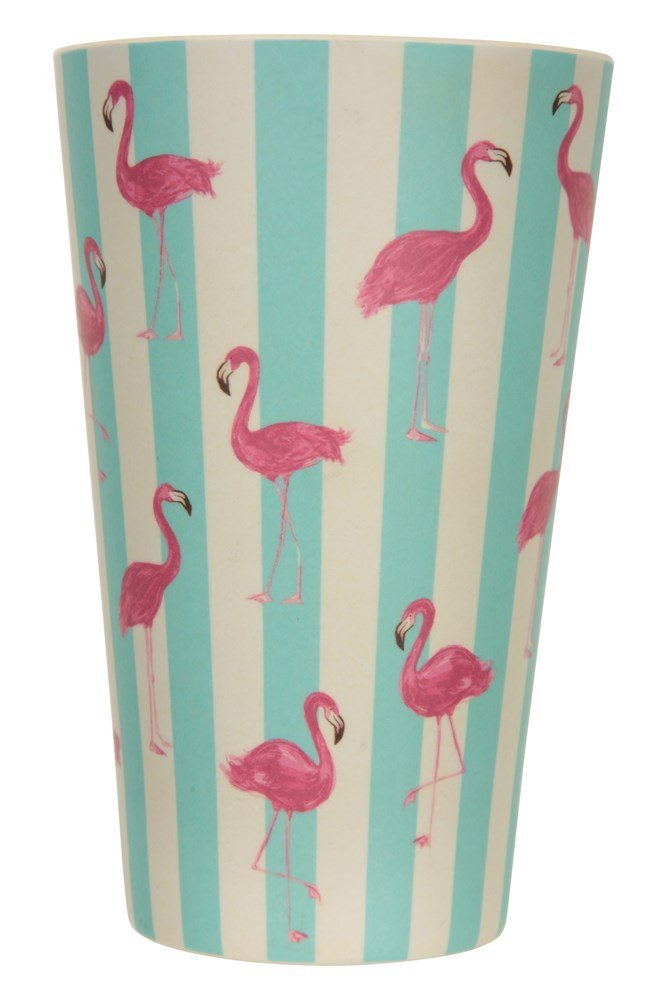 Bamboo Cup - Patterned - Teal
