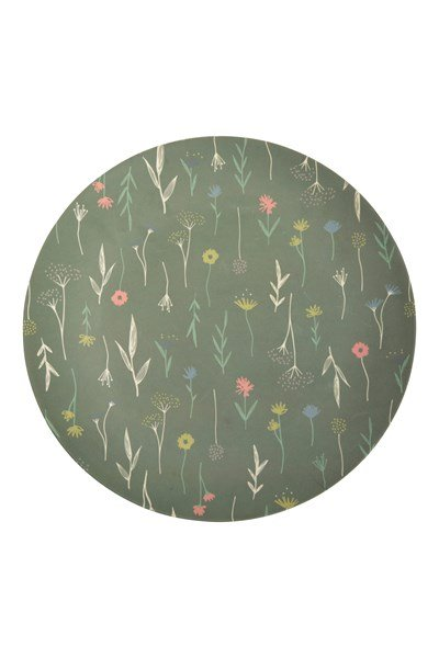 Bamboo Plate - Patterned - Green