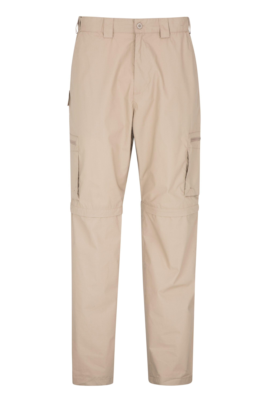Trek II Mens Zip-Off Trousers -Short - Beige