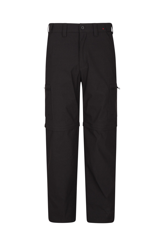 Trek Stretch Mens Zip-Off Trousers - Short Length - Black