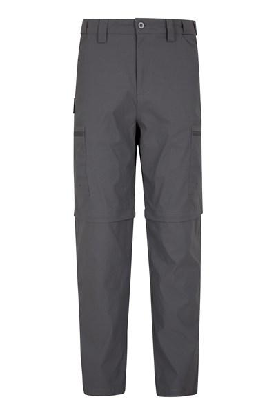 Trek Stretch Mens Zip-Off Trousers - Short Length - Grey