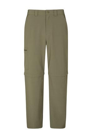 Stride Mens Stretch Zip-Off Pants - Short Length