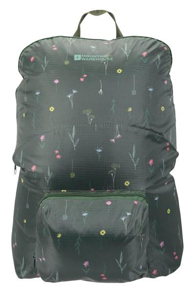 Printed Packaway Backpack - Green