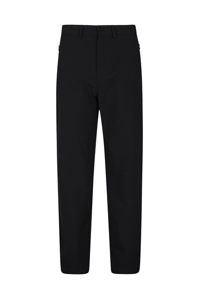 Mountain Mens Stretch Trousers - Short Length - Black