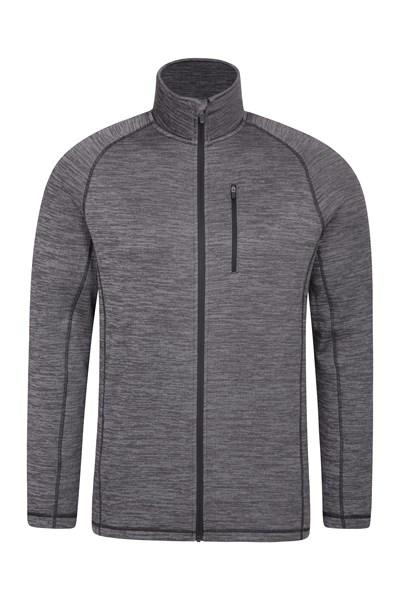 Dash Mens Full Zip Fleece - Grey