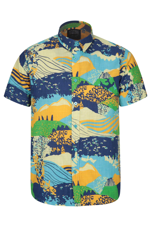 Mountain Warehouse Kit Neale Festival Herren-Shirt blau | 05057634259552