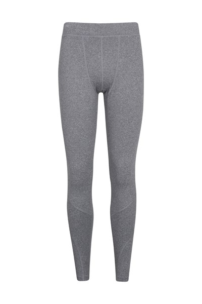 Mens Running Leggings - Grey