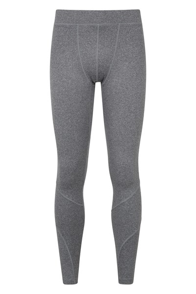Mens Running Leggings - Grey