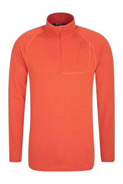 Airly Half Zip Mens Fleece - Orange