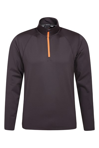 Breeze Half-Zip Mens Midlayer - Grey