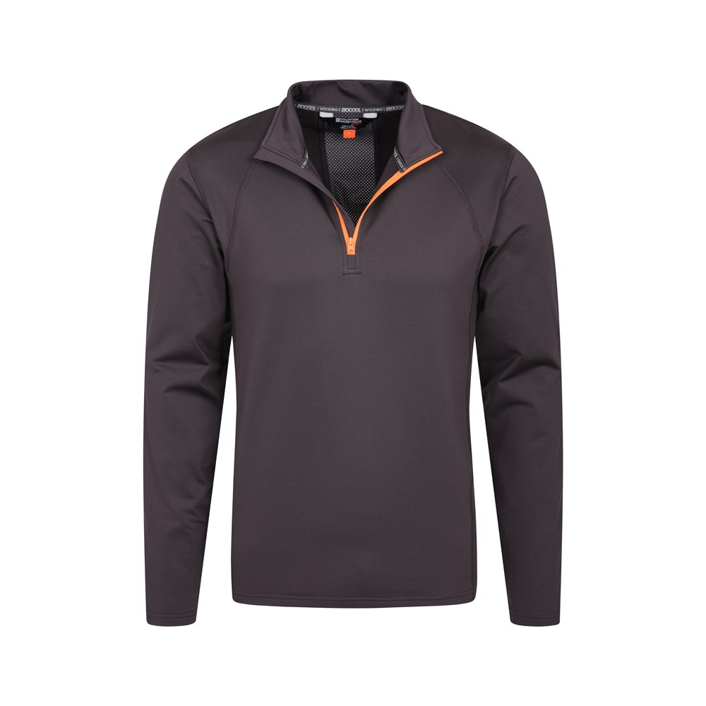 Mountain Warehouse Brezza Da Uomo Mezza Zip Midlayer-Leggero Estate Top