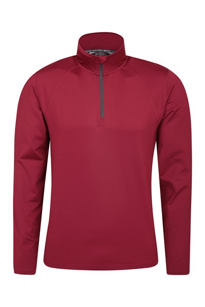 Breeze Half-Zip Mens Midlayer - Dark Red
