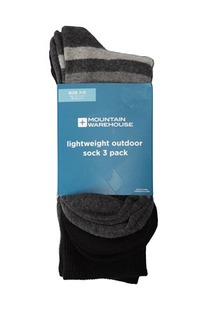 Lightweight Outdoor Mens Socks - 3 Pack