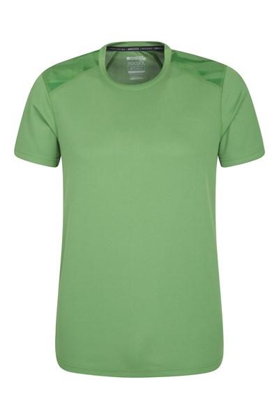 Aspect Printed Mens Panel T-Shirt - Green